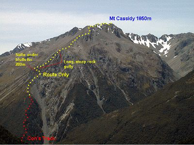 Mt Cassidy Route