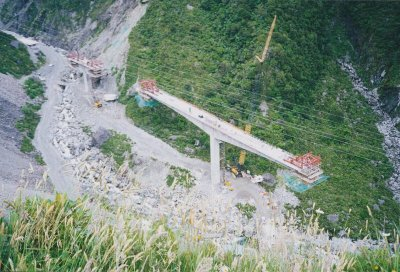 Otira Viaduct balanced cantilever construction